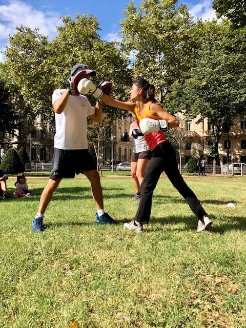 Cour outdoor boxe lyon 6 découverte plein air workout fitness