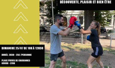 stage boxe découverte lyon initiation partage sport outdoor