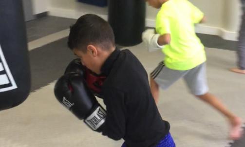 Cours collectif de boxe enfant Lyon